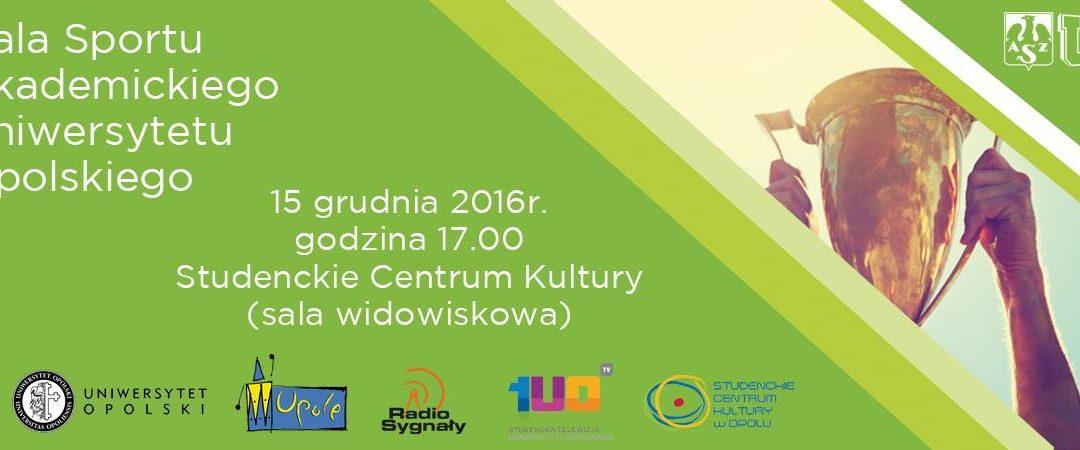 Gala Sportu Akademickiego Uniwersytetu Opolskiego